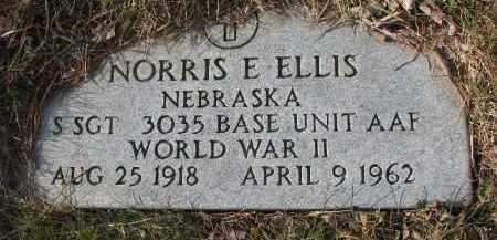 ELLIS, NORRIS E. (WW II MARKER) - Dixon County, Nebraska | NORRIS E. (WW II MARKER) ELLIS - Nebraska Gravestone Photos