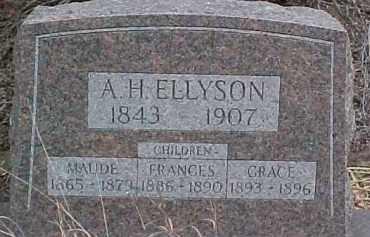 ELLYSON, A.H.  (FATHER) - Dixon County, Nebraska | A.H.  (FATHER) ELLYSON - Nebraska Gravestone Photos
