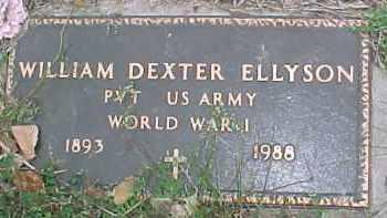 ELLYSON, WILLIAM DEXTER (WW I MARKER) - Dixon County, Nebraska   WILLIAM DEXTER (WW I MARKER) ELLYSON - Nebraska Gravestone Photos