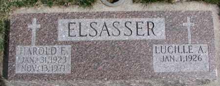 ELSASSER, HAROLD E. - Dixon County, Nebraska | HAROLD E. ELSASSER - Nebraska Gravestone Photos