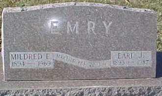 EMRY, MILDRED E. - Dixon County, Nebraska | MILDRED E. EMRY - Nebraska Gravestone Photos