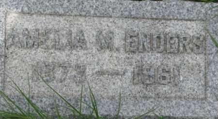 ENDERS, AMELIA M. - Dixon County, Nebraska   AMELIA M. ENDERS - Nebraska Gravestone Photos