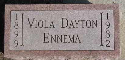DAYTON ENNEMA, VIOLA - Dixon County, Nebraska | VIOLA DAYTON ENNEMA - Nebraska Gravestone Photos