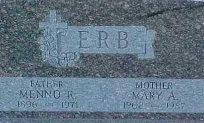 ERB, MENNO R. - Dixon County, Nebraska | MENNO R. ERB - Nebraska Gravestone Photos