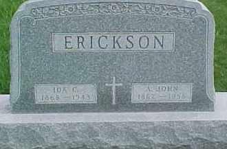 ERICKSON, A. JOHN - Dixon County, Nebraska | A. JOHN ERICKSON - Nebraska Gravestone Photos