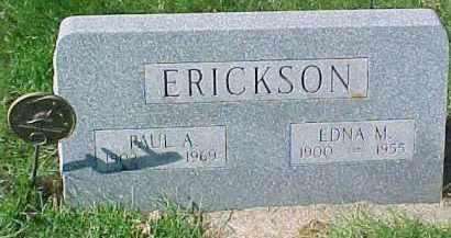 ERICKSON, EDNA M. - Dixon County, Nebraska   EDNA M. ERICKSON - Nebraska Gravestone Photos