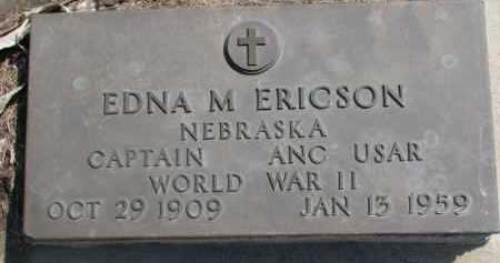 ERICSON, EDNA M. (WW II MARKER) - Dixon County, Nebraska | EDNA M. (WW II MARKER) ERICSON - Nebraska Gravestone Photos