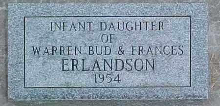 ERLANDSON, INFANT - Dixon County, Nebraska | INFANT ERLANDSON - Nebraska Gravestone Photos