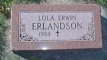 ERLANDSON, LOLA ERWIN - Dixon County, Nebraska | LOLA ERWIN ERLANDSON - Nebraska Gravestone Photos