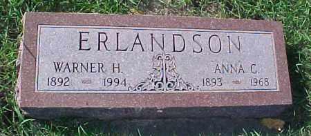 ERLANDSON, WARREN H. - Dixon County, Nebraska   WARREN H. ERLANDSON - Nebraska Gravestone Photos