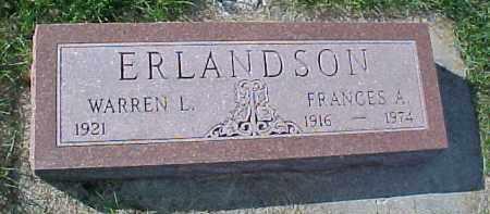 ERLANDSON, FRANCES A. - Dixon County, Nebraska | FRANCES A. ERLANDSON - Nebraska Gravestone Photos
