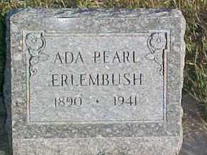 ERLEMBUSH, ADA PEARL - Dixon County, Nebraska | ADA PEARL ERLEMBUSH - Nebraska Gravestone Photos