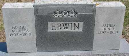 ERWIN, HENRY - Dixon County, Nebraska | HENRY ERWIN - Nebraska Gravestone Photos