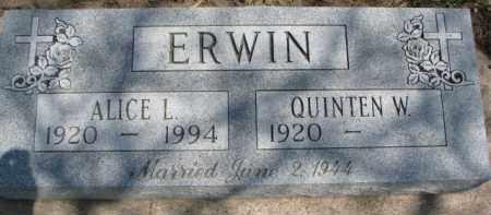ERWIN, ALICE L. - Dixon County, Nebraska | ALICE L. ERWIN - Nebraska Gravestone Photos
