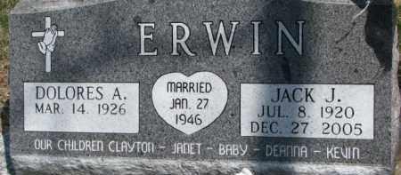 ERWIN, JACK J. - Dixon County, Nebraska | JACK J. ERWIN - Nebraska Gravestone Photos