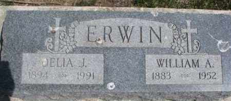 ERWIN, WILLIAM A. - Dixon County, Nebraska | WILLIAM A. ERWIN - Nebraska Gravestone Photos