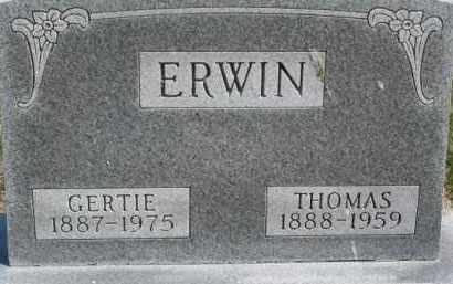 ERWIN, GERTIE - Dixon County, Nebraska | GERTIE ERWIN - Nebraska Gravestone Photos