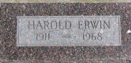 ERWIN, HAROLD - Dixon County, Nebraska | HAROLD ERWIN - Nebraska Gravestone Photos