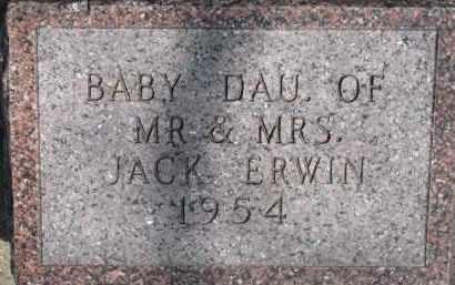 ERWIN, INFANT - Dixon County, Nebraska | INFANT ERWIN - Nebraska Gravestone Photos