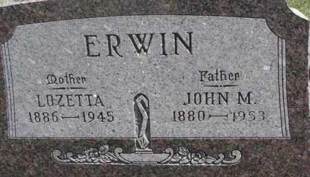 ERWIN, JOHN M. - Dixon County, Nebraska | JOHN M. ERWIN - Nebraska Gravestone Photos