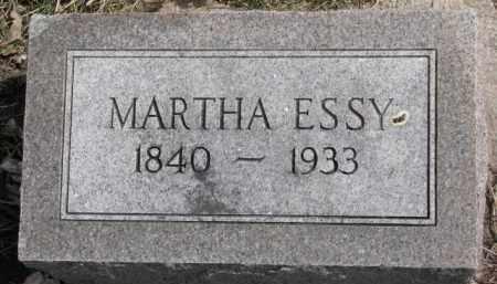 ESSY, MARTHA - Dixon County, Nebraska | MARTHA ESSY - Nebraska Gravestone Photos