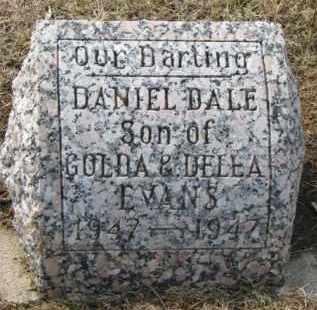 EVANS, DANIEL DALE - Dixon County, Nebraska   DANIEL DALE EVANS - Nebraska Gravestone Photos