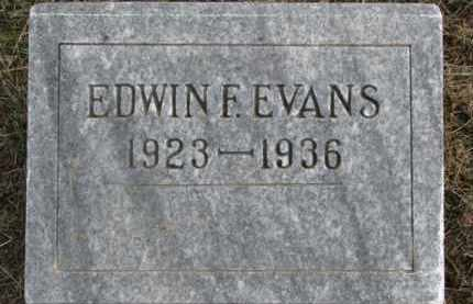 EVANS, EDWIN F. - Dixon County, Nebraska | EDWIN F. EVANS - Nebraska Gravestone Photos