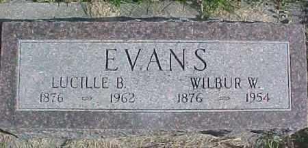 EVANS, LUCILLE B. - Dixon County, Nebraska | LUCILLE B. EVANS - Nebraska Gravestone Photos