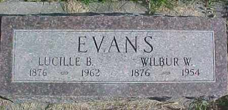 EVANS, WILBUR W. - Dixon County, Nebraska | WILBUR W. EVANS - Nebraska Gravestone Photos