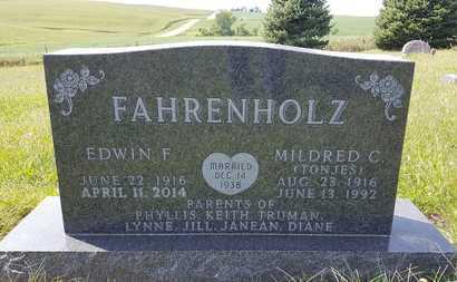 FAHRENHOLZ, EDWIN F. - Dixon County, Nebraska | EDWIN F. FAHRENHOLZ - Nebraska Gravestone Photos