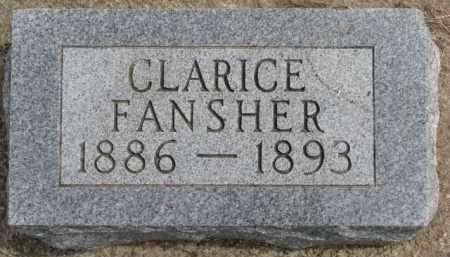 FANSHER, CLARICE - Dixon County, Nebraska | CLARICE FANSHER - Nebraska Gravestone Photos