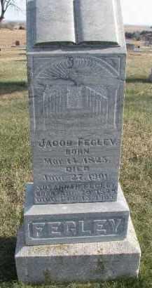 FEGLEY, JACOB - Dixon County, Nebraska   JACOB FEGLEY - Nebraska Gravestone Photos