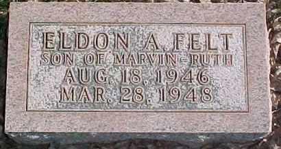 FELT, ELDON A. - Dixon County, Nebraska | ELDON A. FELT - Nebraska Gravestone Photos