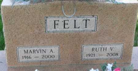 FELT, MARVIN A. - Dixon County, Nebraska   MARVIN A. FELT - Nebraska Gravestone Photos