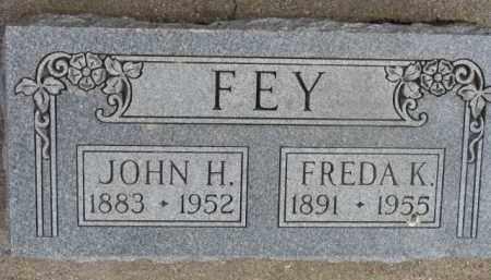 FEY, JOHN H. - Dixon County, Nebraska   JOHN H. FEY - Nebraska Gravestone Photos
