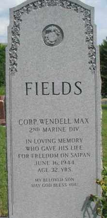 FIELDS, WENDELL MAX - Dixon County, Nebraska | WENDELL MAX FIELDS - Nebraska Gravestone Photos