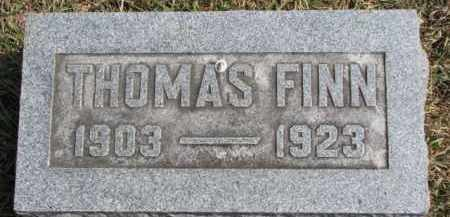 FINN, THOMAS - Dixon County, Nebraska | THOMAS FINN - Nebraska Gravestone Photos