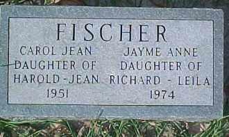 FISCHER, CAROL JEAN - Dixon County, Nebraska   CAROL JEAN FISCHER - Nebraska Gravestone Photos