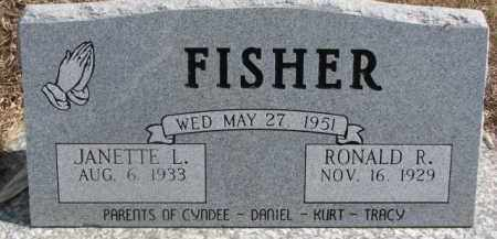 FISHER, RONALD R. - Dixon County, Nebraska | RONALD R. FISHER - Nebraska Gravestone Photos