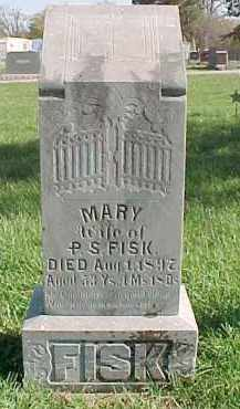 FISK, MARY - Dixon County, Nebraska | MARY FISK - Nebraska Gravestone Photos