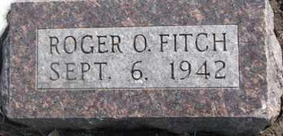 FITCH, ROGER O. - Dixon County, Nebraska   ROGER O. FITCH - Nebraska Gravestone Photos