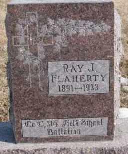 FLAHERTY, RAY J. - Dixon County, Nebraska | RAY J. FLAHERTY - Nebraska Gravestone Photos