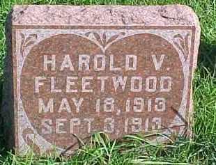 FLEETWOOD, HAROLD V. - Dixon County, Nebraska | HAROLD V. FLEETWOOD - Nebraska Gravestone Photos