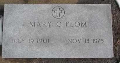 FLOM, MARY C. - Dixon County, Nebraska | MARY C. FLOM - Nebraska Gravestone Photos