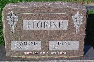 FLORINE, IRENE - Dixon County, Nebraska | IRENE FLORINE - Nebraska Gravestone Photos