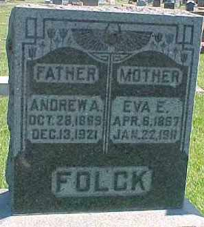 FOLCK, ANDREW A. - Dixon County, Nebraska | ANDREW A. FOLCK - Nebraska Gravestone Photos