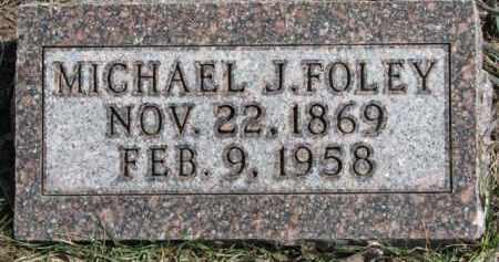 FOLEY, MICHAEL J. - Dixon County, Nebraska | MICHAEL J. FOLEY - Nebraska Gravestone Photos