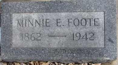 FOOTE, MINNIE E. - Dixon County, Nebraska | MINNIE E. FOOTE - Nebraska Gravestone Photos