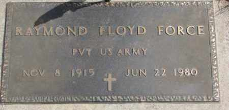 FORCE, RAYMOND FLOYD (MILITARY MARKER) - Dixon County, Nebraska | RAYMOND FLOYD (MILITARY MARKER) FORCE - Nebraska Gravestone Photos