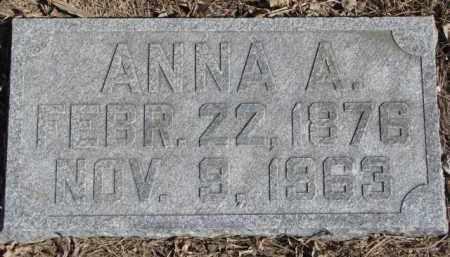 BRUNER FOREMAN, ANNA M. - Dixon County, Nebraska | ANNA M. BRUNER FOREMAN - Nebraska Gravestone Photos